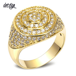 Deczign New Band 18K Gold Luxury Women Wedding Rings Top Quality Cubic Zirconia Bridal Party Ring Environmental Friendly Material SJ10366