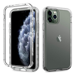 For Iphone 11 Case Clear Full Body Protection Soft TPU Hard PC Protective Case For Iphone 11 pro Max