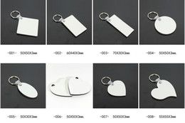 MDF Key chain Sublimation heat press DIY blank Key ring one side can printable 1000pcs lot