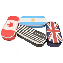 Large Capacity Flag Pencil Case Canvas 20*9*4cm Stationery Phone Bag Office and School Supplies Multifunction Pencil Bag