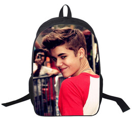 Justin Bieber bag New Kids Backpack Men Backpack Printing Backpack Schoolbag College School Backpacks boys Justin Bieber