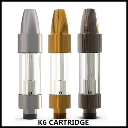 Kangvape K6 CARTRIDGE With 0.5 1.0ml Ceramic Coil Hiden Top Airflow System For 510 Thick Oil Vape Carts Battery 100% Authentic