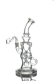 Thick Glass Bongs Water Pipes Recycler Oil Rigs Recycler Bong Hookahs Water Bongs With Stereo Matrix Perc 14mm Joint Hookahs Smoking Pipes