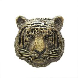 New Vintage Bronze Plated King of Animal Tiger Wildlife Western Cosplay Costume Belt Buckle Gurtelschnalle Boucle de ceinture