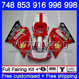 Kit For DUCATI 748 853 916 996 998 S R 94 95 96 97 98 327HM.0 748S 853S 916R 996R 998S 748R 1994 1995 1996 1997 1998 Fairing Factory red hot
