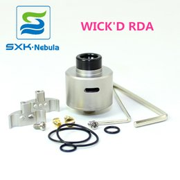 Free Shipping 2019 New WICK'D rda Top Vape Factory SXK High Qulity 3 style Airflow WICKD RDA