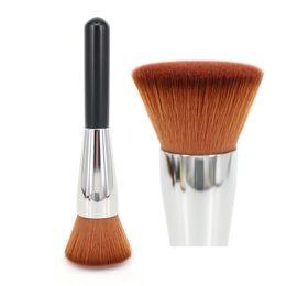 Professional Full Coverage Face Brush Flat Top Kabuki Makeup Brush Powder Foundation Liquid Primer Blusher Blending Buffing Beauty Tools