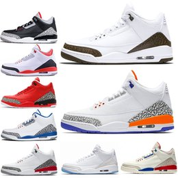 Mens Trainers basketball shoe 3s III Mocha chlorophyll Katrina Knicks Rivals Tinker NRG black cement Grateful Red White Designer Shoes 36-47