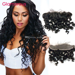 Glamorous Brailian Hair Ear to Ear Lace Frontal Closures 8-24Inch Natural Wave Peruvian Indian Malaysian Remy Human Hair 13x4 Lace Frontal