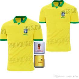 NEW Top quality 2019 2020 World cup Brasil soccer jerseys men Brazil Jersey  2019 20 JESUS COUTINHO FIRMINO MARCELO football kit shirt d41e335a0