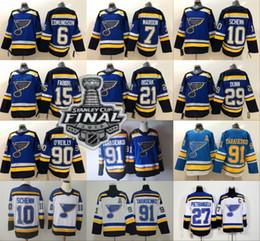 2019 Stanley Cup Champions St. Louis Blues 27 Alex Pietrangelo 91 Vladimir Tarasenko 10 Brayden Schenn 20 Steen 26 Stastny Jake Allen Jersey