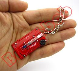 5 colors Zinc alloy DC2 B18C EK9 B16B DOHC VTEC Car Engine Valve Cover Keychain Keyring Key Chain Ring