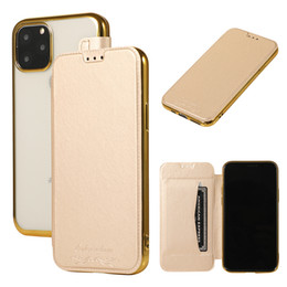 Plating Flip Leather Cover Wallet TPU Case Full Body With Card Slots for iPhone 11 Pro Max XS XR X 8 7 Plus Samsung Galaxy S10 E S9 Note 10