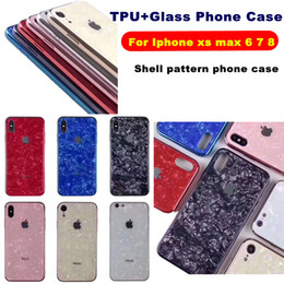 Glass Phone Case For Iphone XS MAX XR XS 6 7 8 PLUS Shell pattern phone case Scratchproof Luxury Electroplated Phone Cases