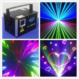 Analog 45Kpps 2.5W RGB full color Animation laser light ILDA DMX 512 stage laser light Christmas new year laser show