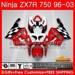 Bodys For KAWASAKI NINJA ZX 7 R ZX 750 ZX750 ZX 7R ZX-750 28HC.15 ZX-7R stock red hot ZX7R 1996 1997 1998 1999 2000 2001 2002 2003 Fairing