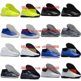 2019 mens soccer shoes Phantom Vison Academy DF TF IC IN soccer cleats EA Sports indoor football boots cheap botas de futbol
