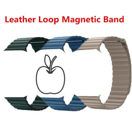 Magnetic Buckles Watchband Leather Loop Wrist Strap With Adapter for Apple Watch iWatch Series 1234 Sports Edition 38 40mm 42 44mm Bands