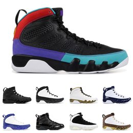 With box DREAM IT DO IT 9 9s basketball shoes for men UNC BRED space jam OREGON DUCKS STATUE mens fashion sports sneakers