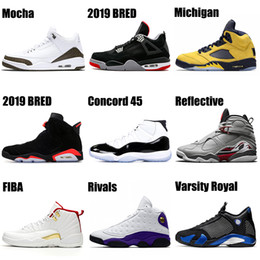 Men Women Basketball Shoes 11s Concord Bred 4s 6s FIBA 12s Cap and Gown 13s Michigan TROPHY ROOM 5s Mens Trainers Sports Sneakers
