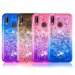 Glitter Liquid Quicksand Sparkle Shiny Bling Diamond Soft TPU Case For Huawei P30 Mate 20 Pro V20 Nova 4 Y9 P Smart 2019