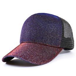 Creative Trucker Hats Gradually Changing Color Baseball Mesh Cap Designer Sun Hats For Men And Women