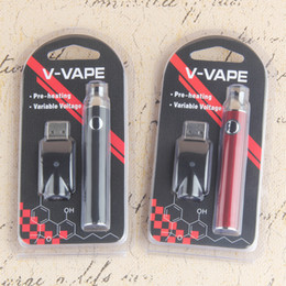 V-VAPE Preheating Vape Pen Blister Kits 650mah Variable Voltage 510 Thread Pen Kits With USB Charger Blister Pack