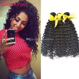 Glamorous Peruvian Virgin Hair 3 Bundles Curly Hair Extensions Top Quality Brazilian Malaysian Indian Raw Unprocessed Virgin Human Hair Weft