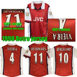 1998 BERGKAMP VIEIRA Retro Soccer jersey Bergkamp Anelka OEVRMARS 1998 Legendary retro football Shirt