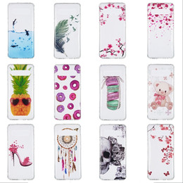 Flower Cartoon Soft TPU Case For Samsung Galaxy S10 5G M10 M20 M30 A40 A50 A70 Feather Macaron Butterfly Pineapple Dolphin Skin Cover 100pcs