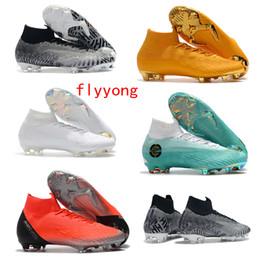 5300bd14f 2019 New Mercurial Superfly VI 360 Elite Neymar FG Soccer Cleats Mens  Womens Kids Football Boots CR7 Ronaldo Soccer Shoes Fly Knit Ultra
