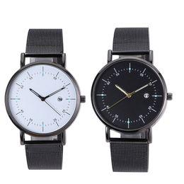 2019 Creative Mesh Band Calendar Quartz Watch Luxury Casual Women Stainless Steel Dress Wristwatches Drop Shipping