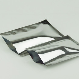 22x30cm Flat Pouches, 100pcs lot Aluminum Mylar Bags Heat Seal, Silvery Aluminizing Foil Food package, Plating Mylar Sesame Plastic Bag