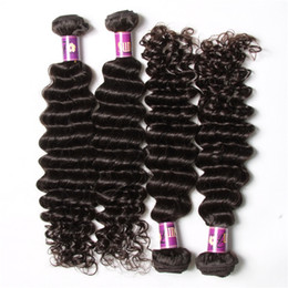 50% off Virgin Hair Extensions Brazilian Hair Bundle Deals Deep Wave Human Hair Weaves 4pcs lot Brazillian Wholesale Natural Weave