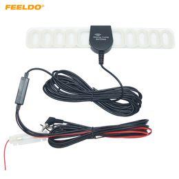 FEELDO Car 2IN1 TV FM TV Antenna Radio Antenna With Amplifier Booster #892