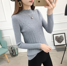 9 Colors Sweaters Elastic Long-sleeve Female Pullovers Turtleneck Winter Autumn Women Clothes Jumper Streetwear Knitted Tops FS8224
