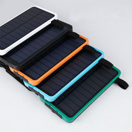 20000mAh Solar Power Bank Battery Panel external Charger solar Charging Two Ports 3 colors choose for