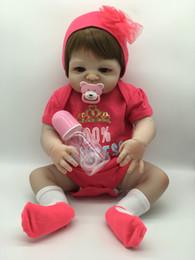 22 inch Full Body Doll Reborn Realistic Dolls Victoria Full Vinyl Soft Reborn Baby Girl Doll in Flower Dress