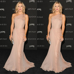 Kate Hudson In Mermaid Celebrity Dresses Pleats One Shoulder Sweep Train Red Carpet Sequin Evening Gowns Prom Dress