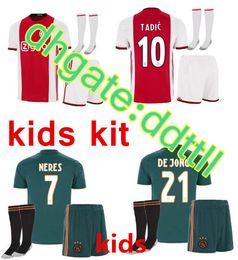 Thai quality 2019 Ajax FC kids kits+socks soccer jersey 19 20 KLAASSEN FISCHEA BAZOER MILIK uniforms shirt baby Ajax FC Football jersey