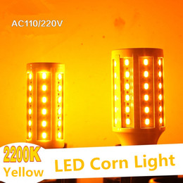 LED Corn Light Yellow 2200K 110V 220V E27 LED Bulb Light SMD 5730 Energy Saving Lamps for Hotel
