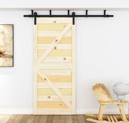 DIYHD 5ft-8ft Ceiling Mount Bracket Sliding Barn Door Hardware Rustic Black Bent Straight Roller Sliding Barn Door Hardware