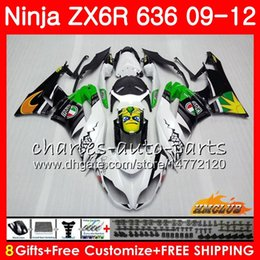 Body For KAWASAKI NINJA ZX636 ZX600 ZX-6R ZX6R 09 10 11 12 shark green new 33HC.19 ZX 636 600CC 6 R ZX-636 ZX 6R 2009 2010 2011 2012 Fairing