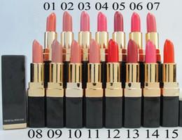 Factory Direct DHL Free Shipping New Makeup Lips Black Box CO Lipstick!3.5g
