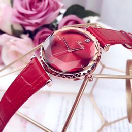 Luxury women watches 34mm dial leather strap Crystal diamond Quartz wrist watch For ladies Valentine Gift Water Resistant Montre Femme