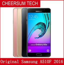 wholesale Refurbished Original Samsung Galaxy A5 2016 A510F 5.2 inch Octa Core 2GB RAM 16GB ROM 13MP 4G LTE Android Smart Phone Free DHL