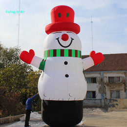 5m Height Outdoor Christmas Inflatable Snowman Winter Snowman Decoration