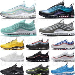 Neon Seoul Bright Citron Iridescent Mens Running Shoes Throwback Future Triple White Black Silver Bullet Women Trainer Sports Sneakers 36-45