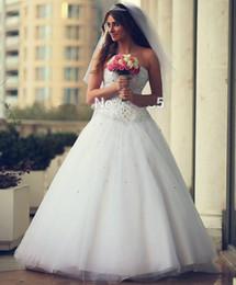 Wonderful Arabic Wedding Dresses Cheap 2019 Beaded Corset Sweetheart Dubai Fashion Bridal Gowns Custom Made Lace Up Wedding Gowns