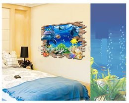 Wholesale Free Express x67cm x26 quot Marine Museum d Wall Stickers for Kids Rooms DIY Adesivo de Parede Wall Decals Home Decoration